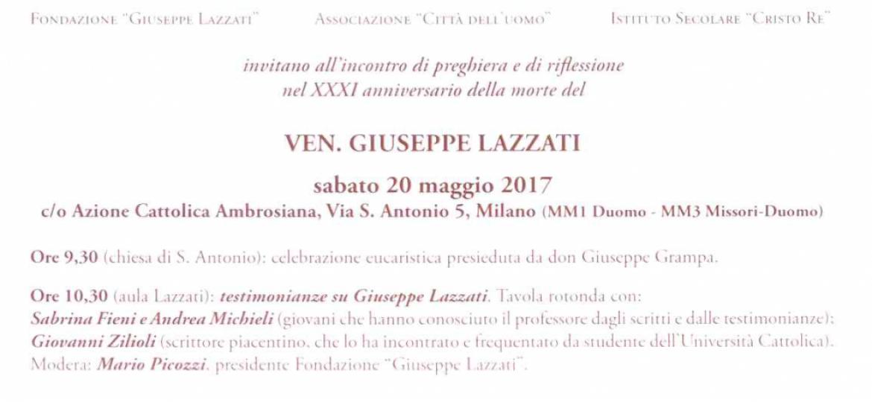 XXXI anniversario della morte del Ven. Giuseppe Lazzati – Incontro di preghiera e riflessione
